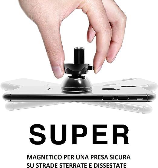 Roki Magnetischer Auto Universal Für Einfüllstutzen Dell Luft Auto Halterung Magnetischer Auto Smartphone Handy Für Iphone 7 6 6s Samsung Note 8 S8 Sony Huawei Xiaomi One Plus Grau Auto