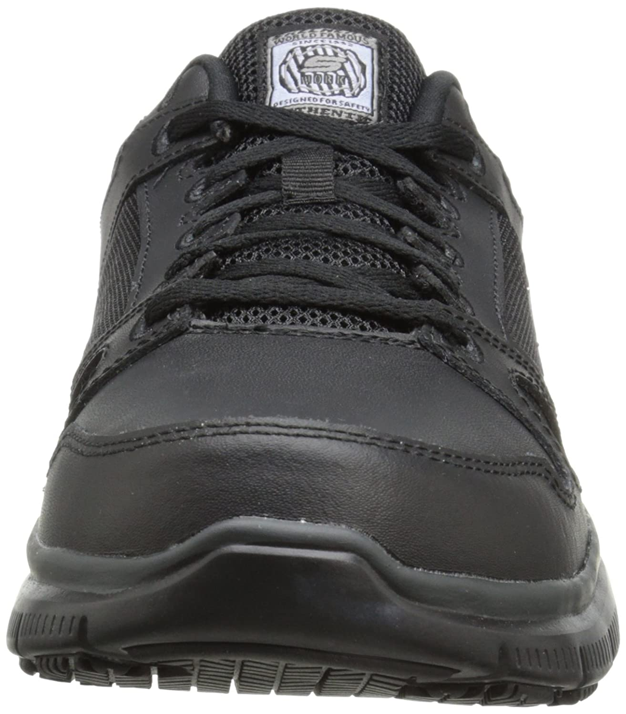 Skechers For For For Work Men's Flex Advantage Slip Resistant Oxford Turnschuhe,schwarz,8.5 W US bd7cf9