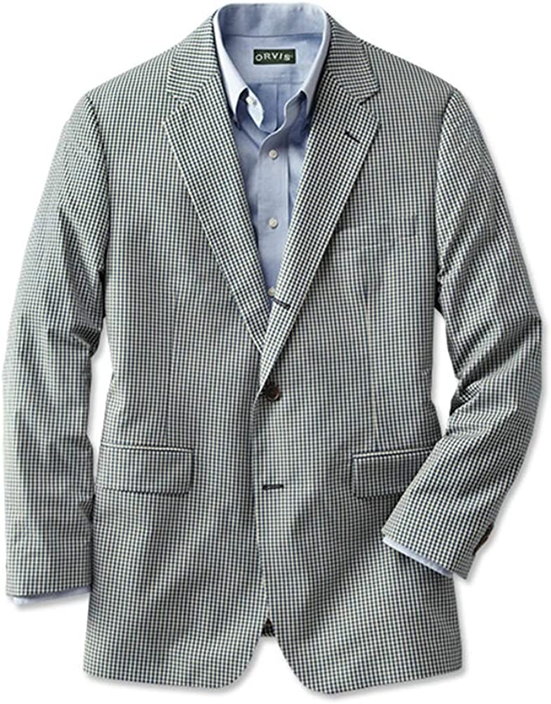 Orvis Wrinkle-Free Gingham Sport Coat/Regular