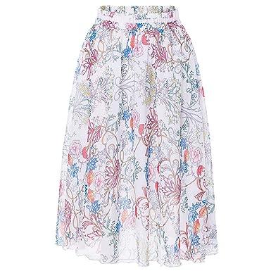 Valin VD1890 - Falda de Playa para Mujer Blanco Blanc 36 ES=S ...
