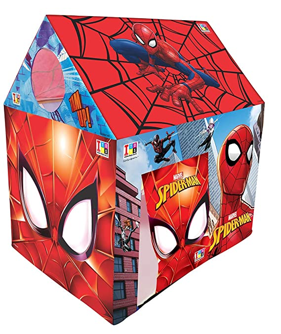 Marvel Spiderman Premium Play Tent House for Kids, 3-8 Years (Multicolour) Play Tents at amazon