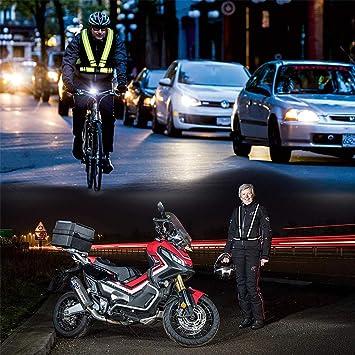Wents Hochwertige Sicherheitsweste 2pcs Reflektorweste Warnweste Praktische Größenverstellbare Reflektorweste Für Das Fahrrad Auto Und Motorrad Warnweste Zum Laufen Und Joggen Sport Freizeit