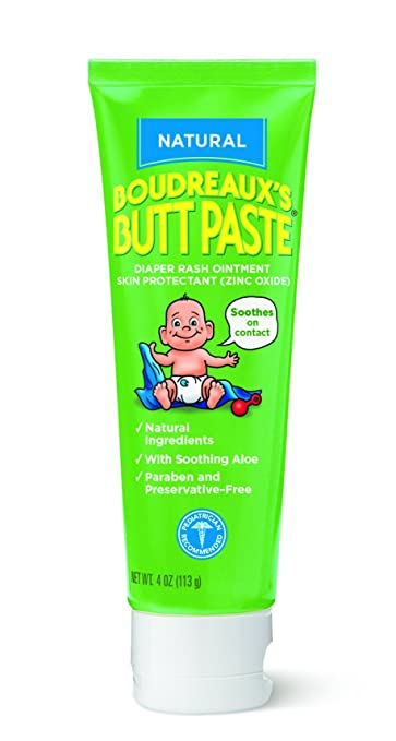 Boudreaux's Butt Paste Diaper Rash Ointment, Natural Ingredients-Paraben and Preservative Free, 4 Ounce