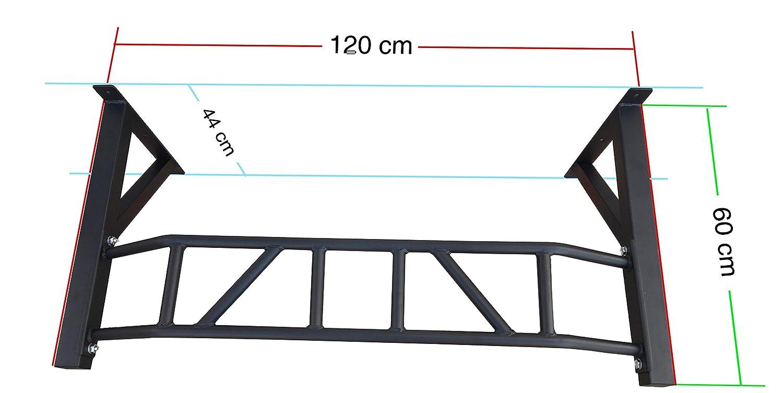 Barra profesional de dominadas XBAR de 120 cm, modelo 2017, multimango para distintos ejercicios, con fijación a la pared, negro: Amazon.es: Deportes y aire ...