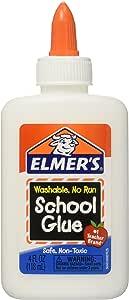 Elmer's Washable School Glue 4 Fl Oz / 118 Ml (Pack of 6)