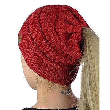 Strickmützen Damen Hüte Winter Mütze Warm Caps Frauen Doppel Faux ...