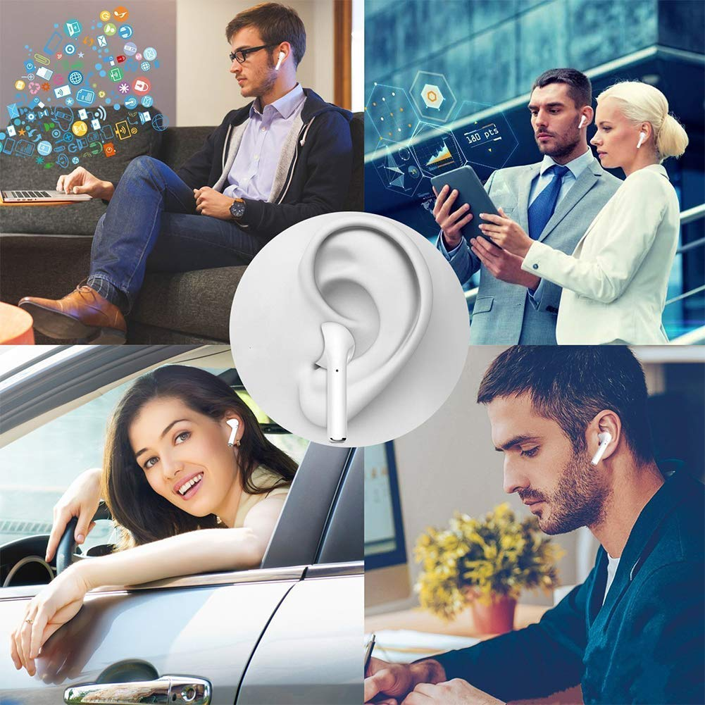 f/ür Apple Airpod Android iPhone in Ear Bluetooth 5.0 Headset 3D Stereo-Minikopfh/örer Sport Kabellose Kopfh/örer mit Portable Mini Ladek/ästchen Bluetooth Kopfh/örer