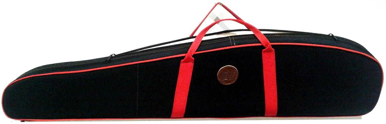 CAZA Y AVENTURA Funda para Rifle MONTADO con Visor EN Cordura Rojo Y Negro