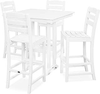 product image for La Casa Café 5-Piece Farmhouse Bar Set (White)