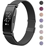 HAPAW Compatible with Fitbit Inspire HR Bands/Inspire Metal Band, Inspire Accessories Stainless Steel Mesh Bracelet…
