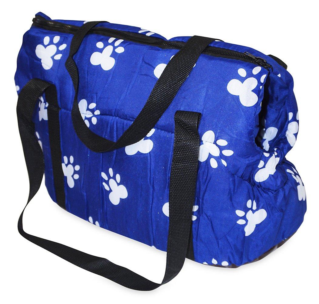 Paw Print Pet Carrier (Blue)