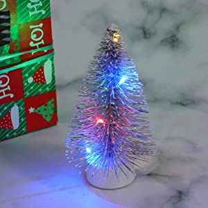 Uonlytech 1 12 Dollhouse Light Christmas Tree Night Light DIY Dollhouse Miniature Light, Christmas Birthday Gifts for Kids(Silver)
