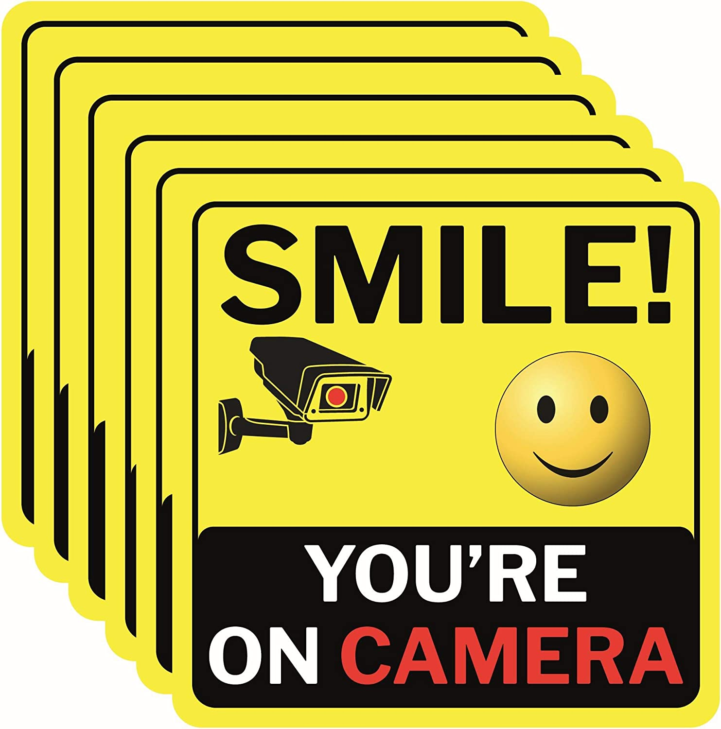 SMILE YOU/'RE ON CAMERA Advertising Vinyl Banner Flag Sign Many Sizes SECURITY