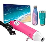 Bubble Removing Tool for Epoxy Resin and Acrylic Art, DIY Glitter Tumblers, Specially-Designed Heat Gun for Making Acrylic Re