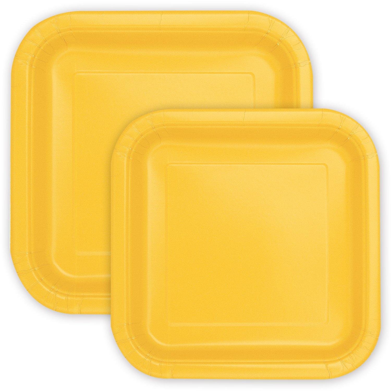 Extra-stabil Party Party Pappteller Quadratisch Gold 18 cm 30 Einwegteller perfekt f/ür Geburtstag Sommerfest Kindergeburtstag /& Co. 23 cm