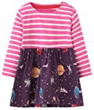 Amazon Price History for:Fiream Girls Cotton Longsleeve Casual Dresses Print Cartoon