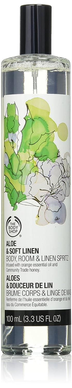 The Body Shop Room & Linen Spray, Aloe & Soft Linen, 3.3 Fl. Oz.