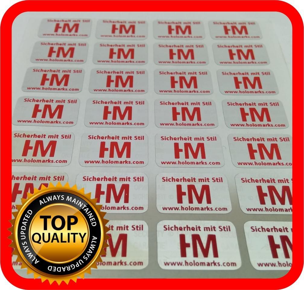 Personalizzazione gratuita 700/etichette con il Logo in rosso sigillo adesivo ologramma 14/x 9/mm