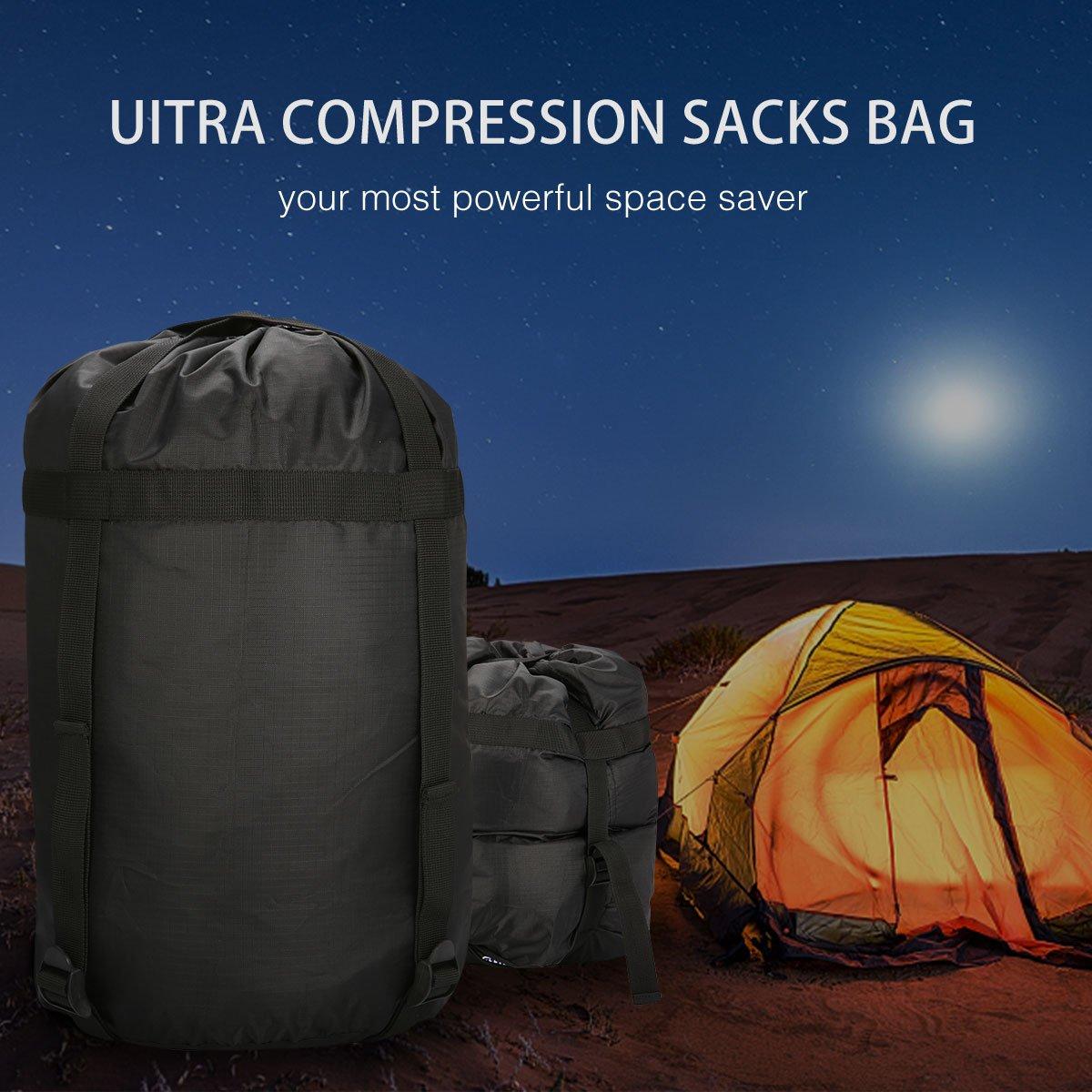 CAMTOA Sac de compression nylon Stuff Sack pour Sac de couchage camping en plein air dormir camping