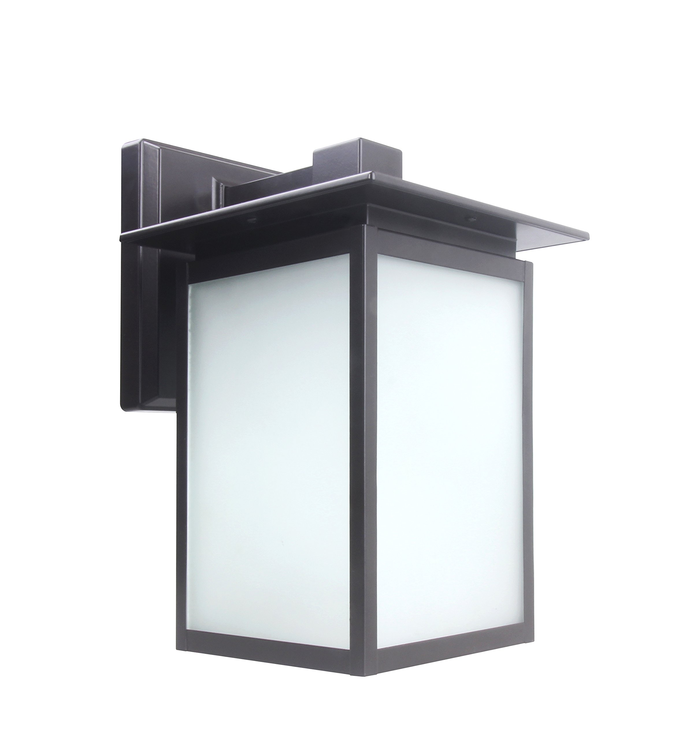 Lit-Path Outdoor LED Wall Lantern, Wall Sconce as Porch Light Fixture, 12.5W (125W Equivalent), 1250 Lumen, Aluminum Housing Plus Glass, Oil Rubbed Bronze, ETL and ES Qualified