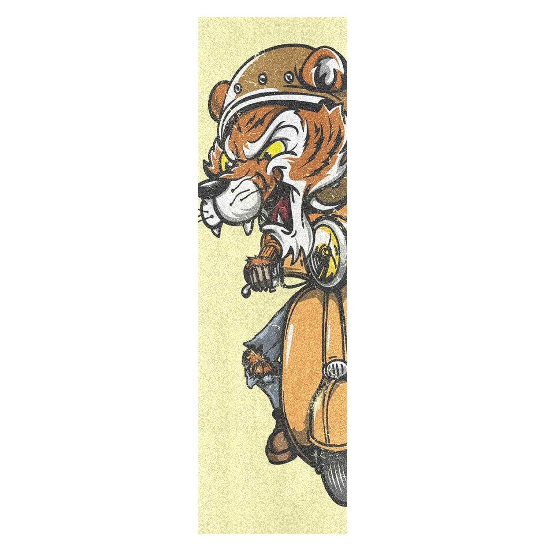 Cooler Motorradtiger Skateboard Griffband Sandpapier Griptape Rutschfestes Blasenfrei Blatt 1 St/ück Longboard Aufkleber Scooter 22,9 x 83,8 cm