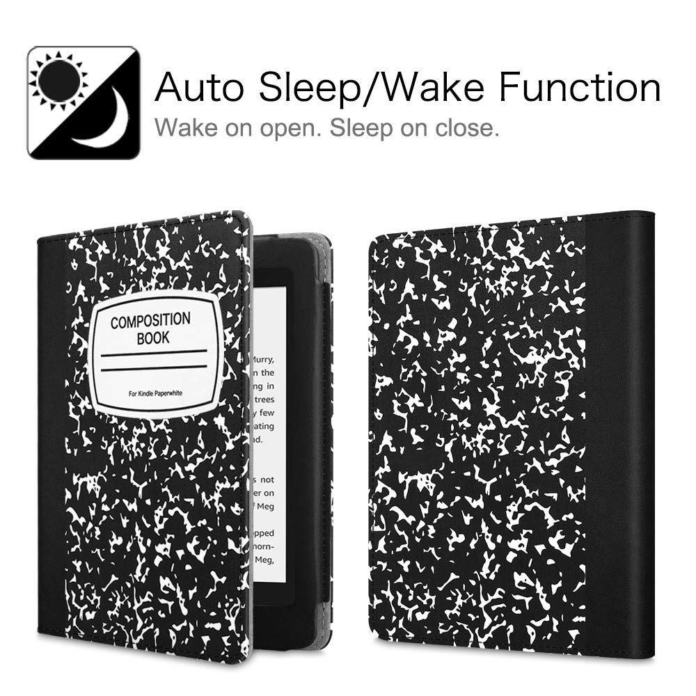 - Book Style Premium PU Leather Shockproof Cover with Auto Sleep//Wake FINTIE Folio Case for Kindle Paperwhite Blossom Fits All-New 10th Generation 2018 // All Paperwhite Generations