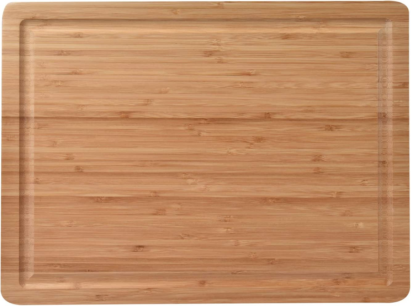 ZESPROKA Extra Large Bamboo Cutting Board (16 x 12 Inches) with Juice Grooves –Bamboo Chopping Board for Meat, Vegetables, Fruit&Cheese – Non Slip & Non Stick Design- Butcher Block for Kitchen