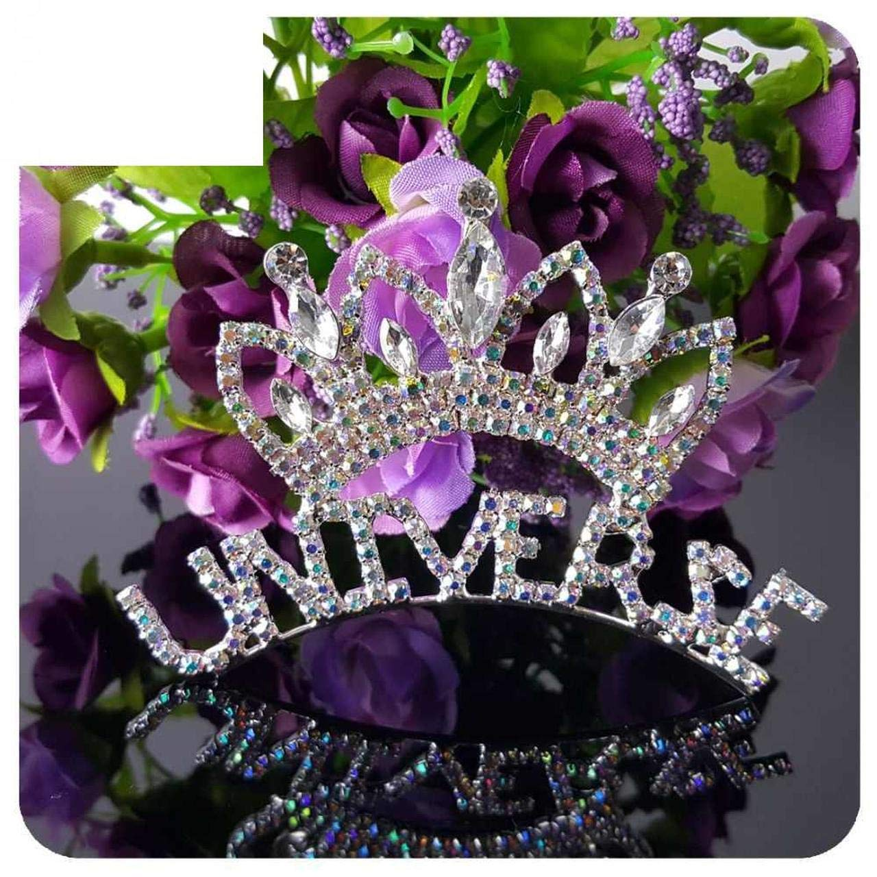 Grandbling Rhinestone Universe Queen Brooches Brooch Pin Badge Emblem Corsage Beauty Pageant Crown Tiara