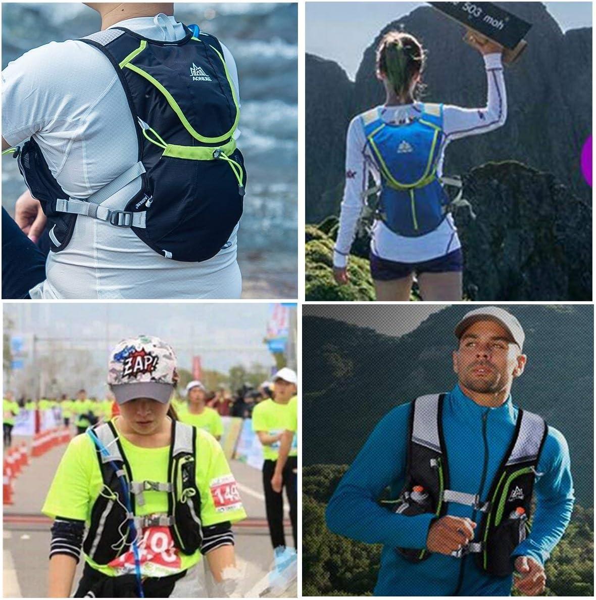TRIWONDER Sac Trail Sac dHydratation 8L Sac /à Dos Running Gilet dHydratation pour Homme Femme Course Marathon Randonn/ée