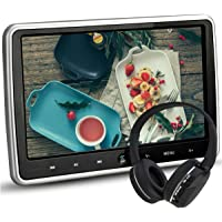"""NOAUKA 10.1"""" Ultra Thin Portable Digital HD TFT LCD Headrest DVD Player Car Multimedia Wide Screen Display Player Headrest Monitor with HDMI and Remote Control and IR Headphone"""