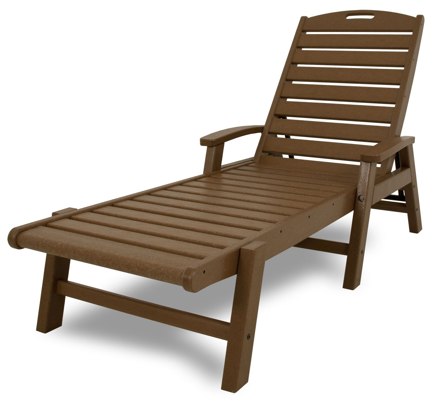 Amazon.com : Trex Outdoor Furniture Yacht Club Stackable Chaise Lounger  With Arms, Tree House : Patio Lounge Chairs : Patio, Lawn U0026 Garden