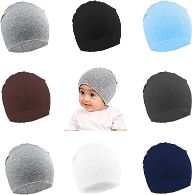 Amandir 6 Packs Toddler Infant Hats Knit Baby Beanies Cotton Soft Cute Newborn Baby Winter Hat Cap for Boys Girls