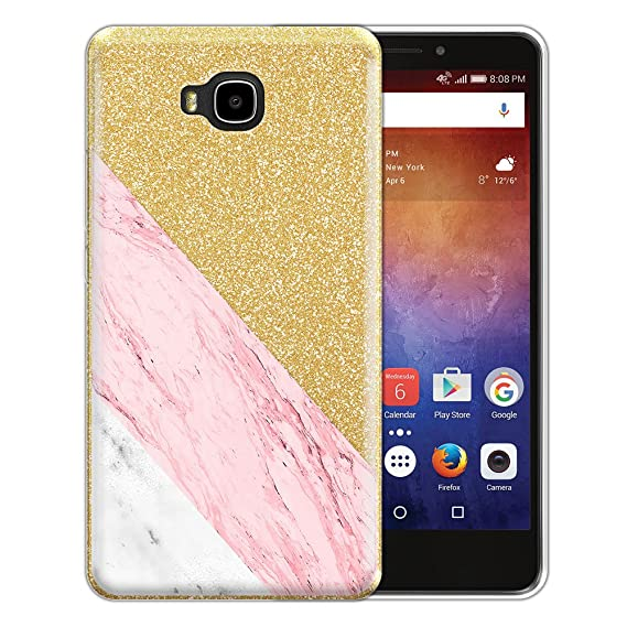 new product 94782 68011 FINCIBO Case Compatible with Huawei Ascend XT H1611, Shiny Sparkling Gold  Bling Glitter TPU Protector Cover Case for Ascend XT H1611 - Pink White ...