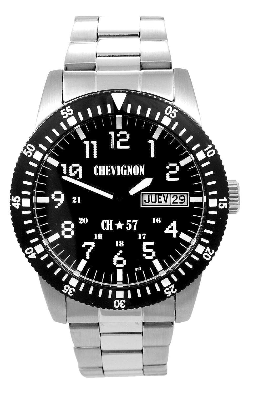 Chevignon Herren-Armbanduhr Analog Quarz Edelstahl 92-0060-501