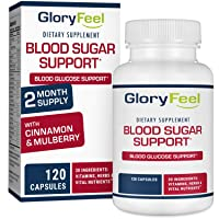 Gloryfeel Blood Sugar Support Supplement - Promote Glucose Metabolism and Cardiovascular...