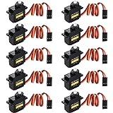Quimat 10個セット9g サーボモーター ロボット arduino Raspberry Pi 小型ヘリコプター RCカーなどに自作用