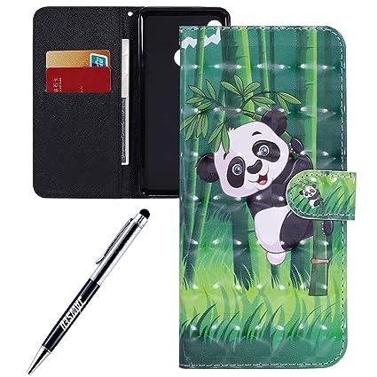 JAWSEU Carcasa Xiaomi Redmi Note 5, Funda Libro de PU Cuero ...