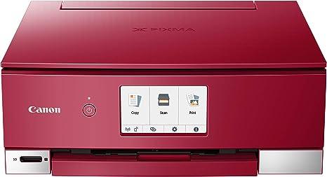Impresora Multifuncional Canon PIXMA TS8252 Roja Wifi de inyección ...