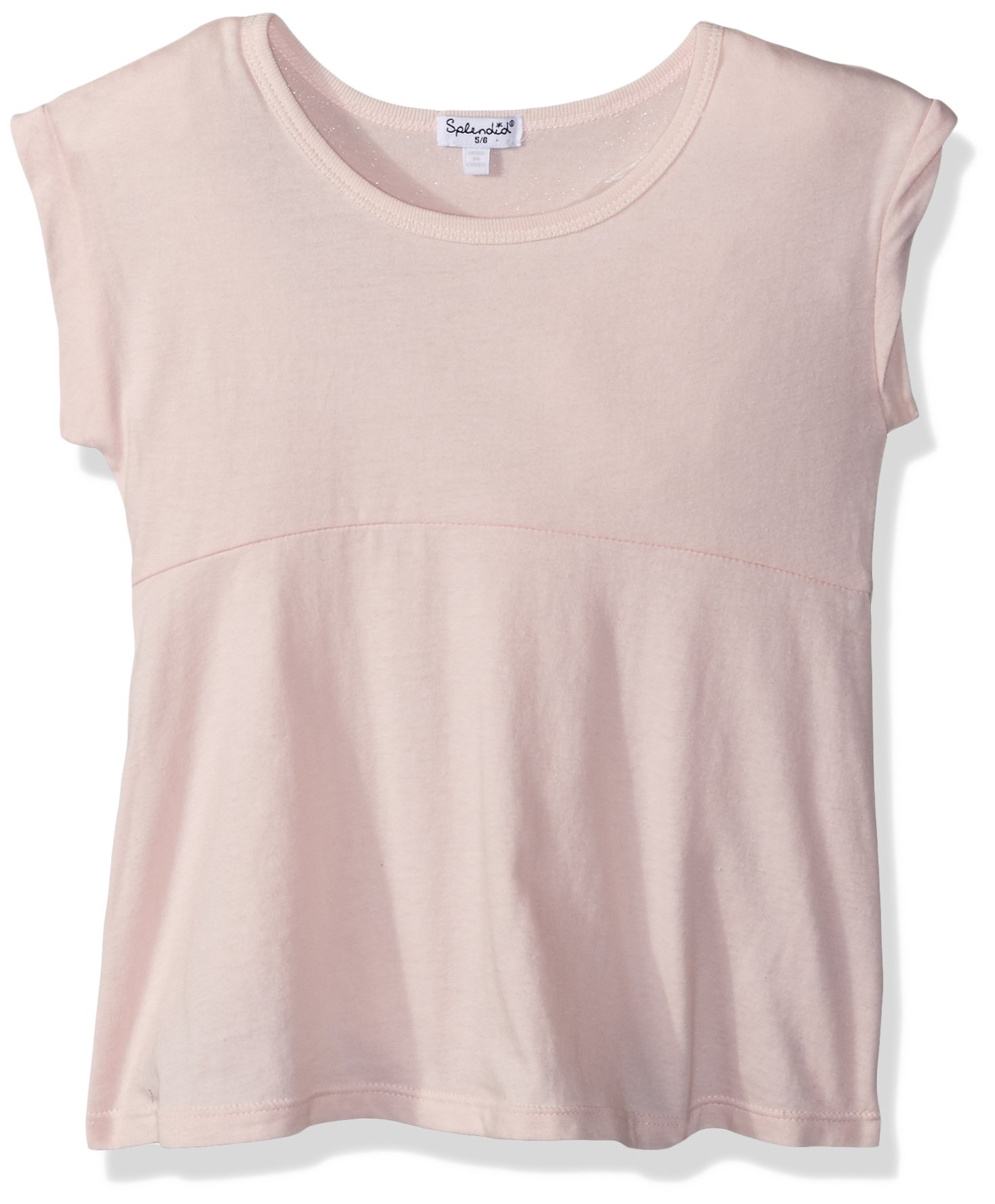 Splendid Toddler Girls' Vintage Whisper Short Sleeve Top, Seafoam Pink, 3T