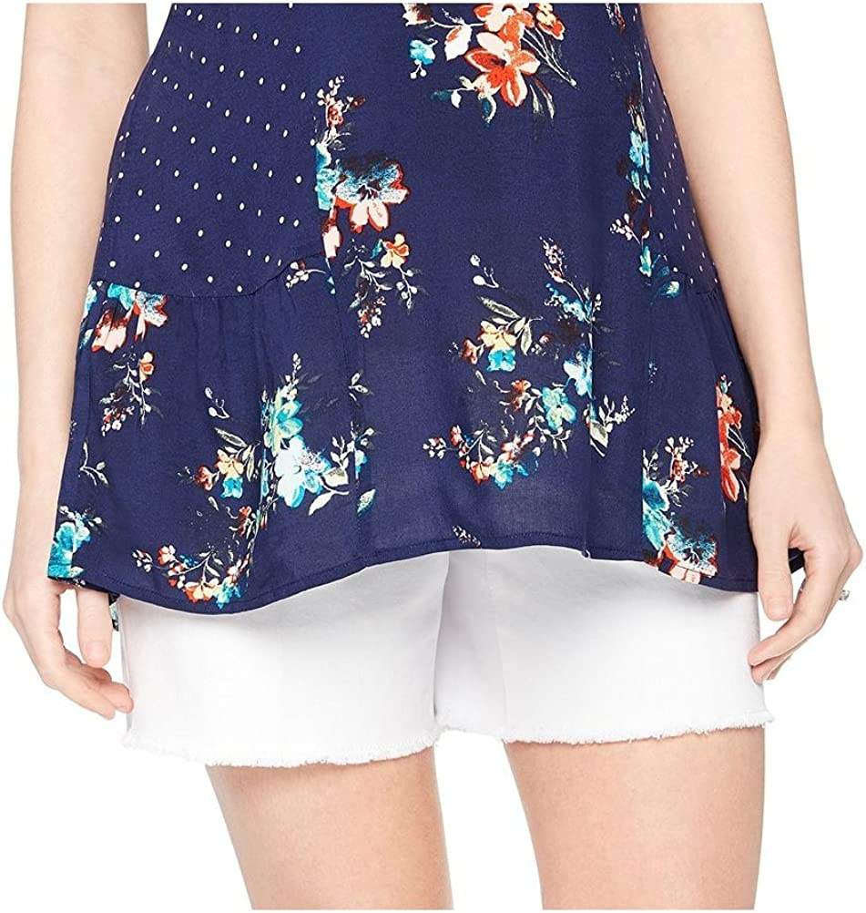 Oh Baby By Motherhood Womens White Denim Maternity Shorts X Large At Amazon Women S Clothing Store