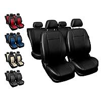 Sitzbezüge Auto Universal Set Autositzbezüge Schonbezüge Schwarz Vordersitze und Rücksitze mit Airbag System - Comfort