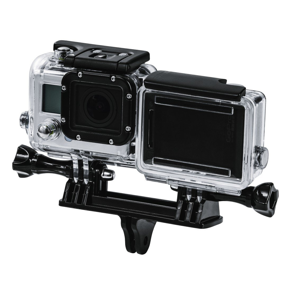 Hama Doppelhalterung f/ür GoPro Doppel-Halter Halterung f/ür 2 GoPro Action-Cams Dual Mount