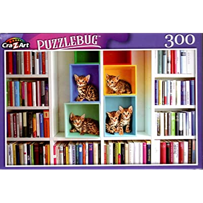 Library Kittens - 300 Pieces Jigsaw Puzzle: Toys & Games