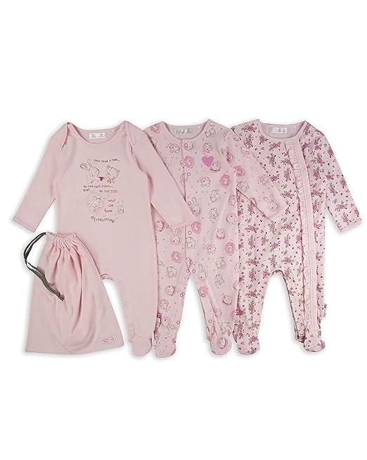 The Essential One - Pijama Pijamas para bebé niñas - Paquete de 3 - Rosada -