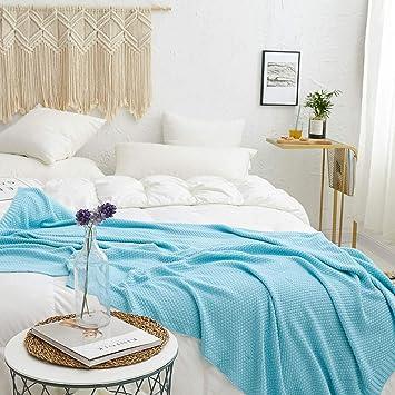 Amazon.com: Manta de punto de cable cálido, 100 % algodón ...