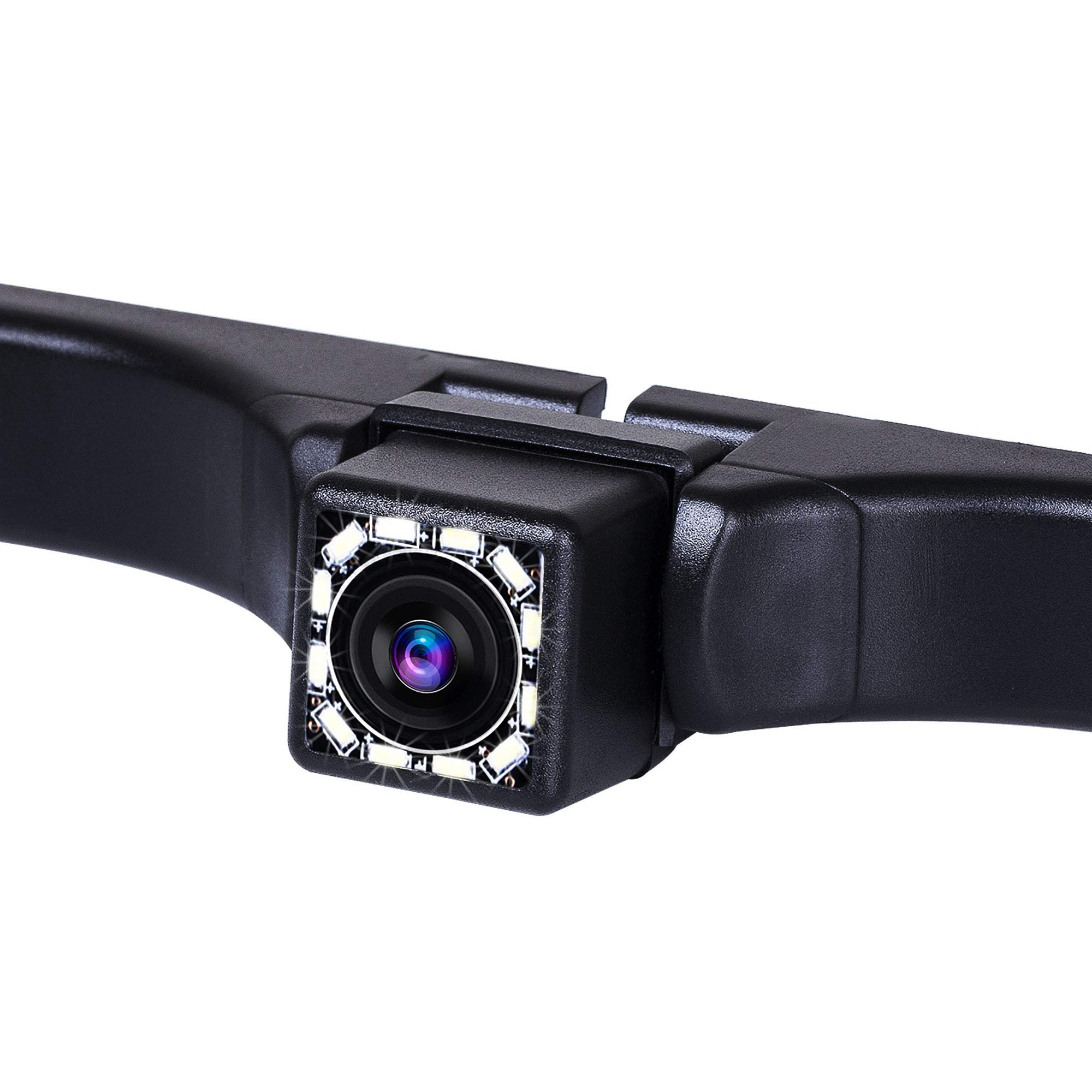 Backup Camera, Rear View Reverse Camera with Multiple Mount Brackets,Waterproof Reverse Back Up Car Camera -With 26Ft RCA Video Cable, Remove Tool and All Necesssary Parts Included