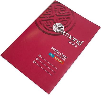 Pack de 10] Cuadernos A4 para matemáticas, 120 páginas, 7 mm ...