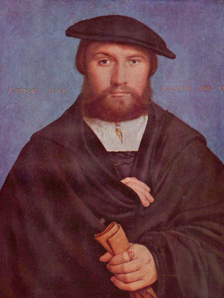 Lais Puzzle Hans Holbein d. J. - Porträt Porträt Porträt des Kaufmanns Wedigh aus Köln 2000 Teile 24f078