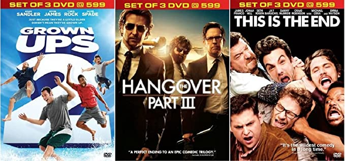 5bd9d103c Amazon.in: Buy Grown Ups 2/The Hangover 3/This Is The End DVD, Blu ...