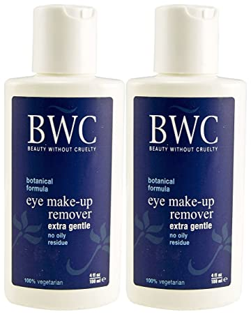 Beauty Without Cruelty - Eye Make-Up Remover Extra Gentle - 4 oz. (pack of 2) badger unscented beauty balm 1oz - certified organic